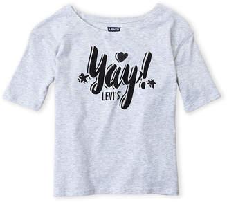Levi's Girls 7-16) Yay Logo Tee