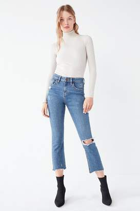 BDG Kick Flare High-Rise Ripped Cropped Jean – Medium Wash