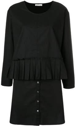 Semi-Couture Semicouture layered pleated mini dress