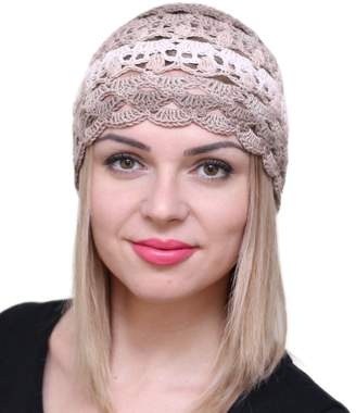 NFB Fascinator Hats for Women Ladies Summer Beanie Cotton Cloche Crochet  caps 22f30fb3fd2