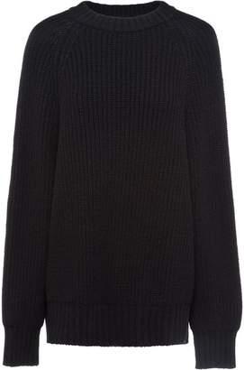 Prada ribbed oversized jumper