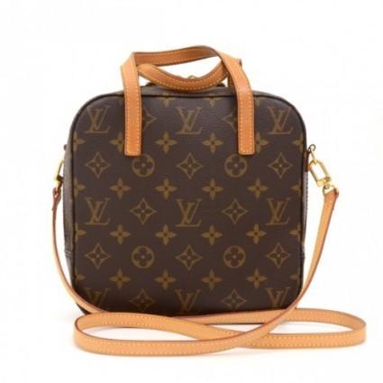 Louis Vuitton excellent (EX Spontini Monogram Canvas Hand Bag + Strap