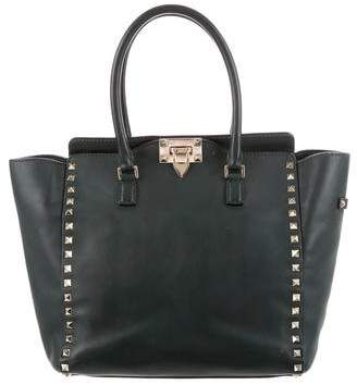 Valentino Small Rockstud Double Handle Tote