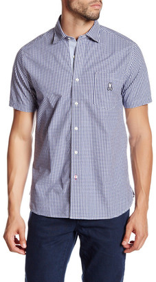 Psycho Bunny Gingham Plaid Short Sleeve Trim Fit Shirt $110 thestylecure.com