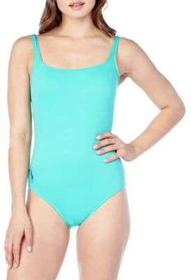 Polo Ralph Lauren Modern Solid Martinique One-Piece Swimsuit