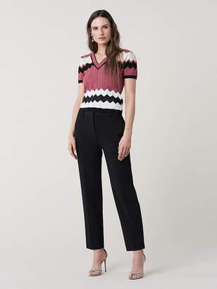 Diane von Furstenberg Janelle Nylon V-Neck Knit