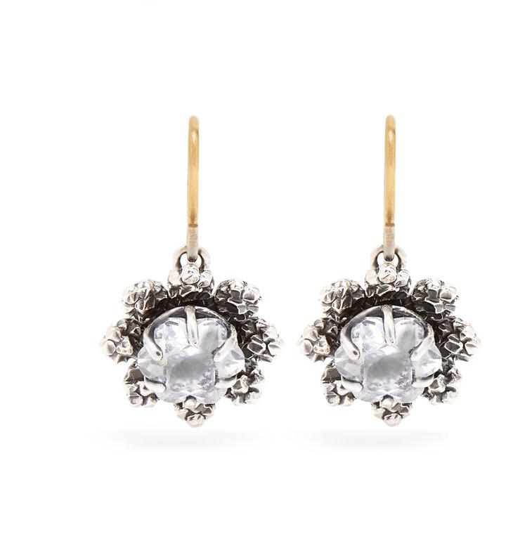 Bottega VenetaBOTTEGA VENETA Cubic-zirconia and silver drop earrings