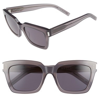 Saint Laurent Women's Saint Laurent 'Bold' 54Mm Sunglasses - Opale Grey