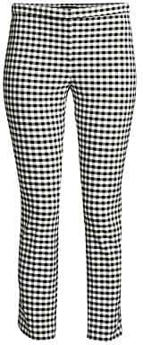 Theory Women's Classic Crop Gingham Pants - Size 0