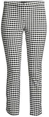 Theory Women's Classic Crop Gingham Pants