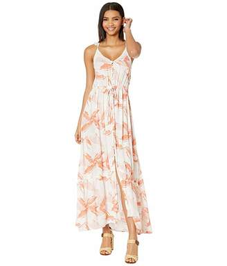 Roxy Hot Summer Lands Strappy Button Through Maxi Dress
