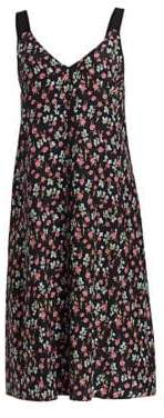 Rag & Bone Zoe Floral Silk Charmeuse Tank Dress