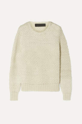The Elder Statesman Pop Waffle-knit Cashmere Sweater - Ivory