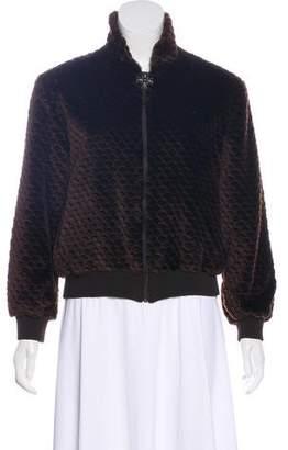 St. John Faux Fur Zip-Up Jacket