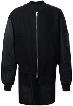 Juun.J zipped bomber jacket
