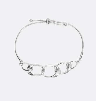 Avenue Silver Circles Adjustable Pull Bracelet