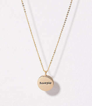 LOFT Scorpio Pendant Necklace