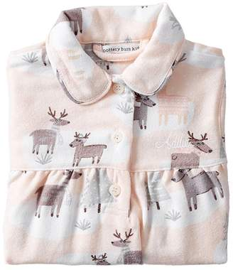 Pottery Barn Kids Holiday Deer Flannel Flannel Nightgown, 2T