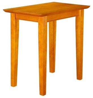 Atlantic Furniture Shaker Chair Side Table in Walnut or Caramel