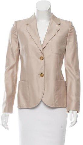 Alexander McQueenAlexander McQueen Wool & Silk-Blend Notch-Lapel Blazer