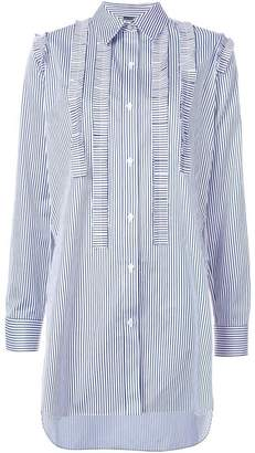 ADAM by Adam Lippes ruffle-trimmed stiped shirt
