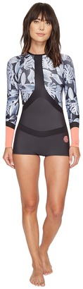 Rip Curl - Madi Long Sleeve Boyleg Spring Suit Women's Wetsuits One Piece $109.95 thestylecure.com