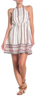 Moon River Stripe Patterned Mini Dress