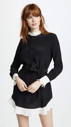 DAY Birger et Mikkelsen Rossella Jardini Shirt Dress with Ruffle Hem