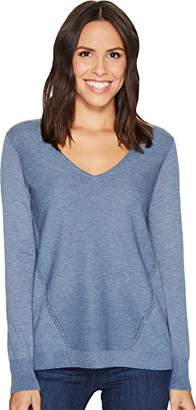 NYDJ Women's Double V-Neck Sweater