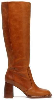 Joseph Thompson Burnished-Leather Boots