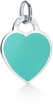 Tiffany & Co. Return to TiffanyTM heart tag charm in sterling silver with enamel finish, small