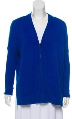 Magaschoni Cashmere Zip-Up Cardigan