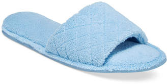 Charter Club Open-Toe Memory Foam Scuff Slippers