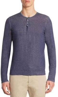 Saks Fifth Avenue MODERN Garment-Dyed Henley