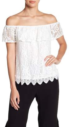 BB Dakota Laced Off-The-Shoulder Blouse