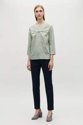 Cos KNOT-FRONT POPLIN BLOUSE