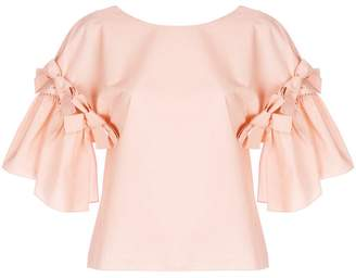 Fendi bow detailed blouse