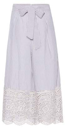 Zimmermann Meridian striped cotton culottes