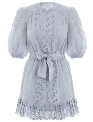 Zimmermann Iris Scallop Front Short Dress