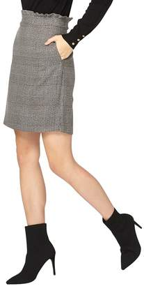 Dorothy Perkins **Tall Grey And Black Checked Frill Mini Skirt
