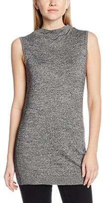 Dorothy Perkins Women's Cowl Neck Tank Tops, Black (Black/Grey)