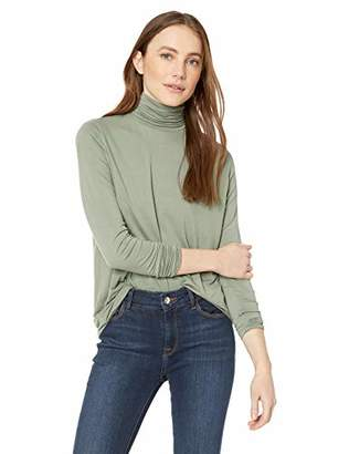 Majestic Filatures Women's Soft Touch Extrafine Swing Turtleneck with Back Pleat