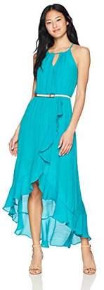Amy Byer A. Byer Women Ruffle Front Faux Wrap Dress (Juniors)
