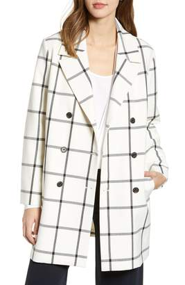 Cupcakes And Cashmere Oversize Check Topper Coat