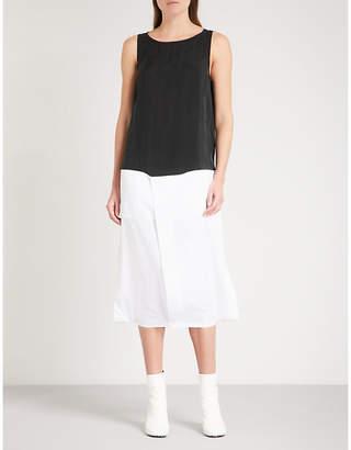 Maison Margiela Contrast-hem sleeveless cotton and woven dress