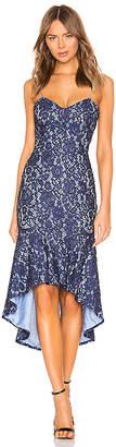 About Us Angeline Lace Ruffle Dress