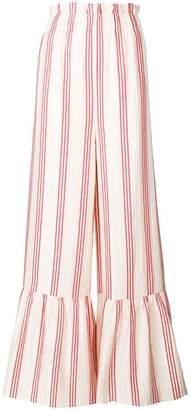 Vilshenko flared striped trousers