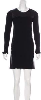 Theory Wool & Leather Dress