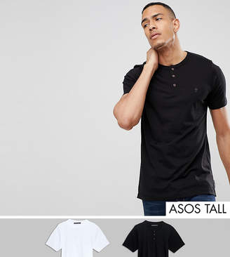 French Connection TALL 2 Pack Henley T-Shirt
