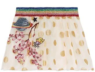 Gucci Children's silk skirt with embroidery